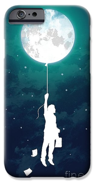 Moon iPhone Cases - Burn the midnight oil iPhone Case by Budi Satria Kwan