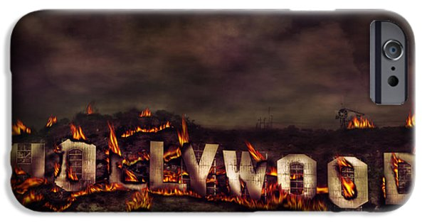 Inferno iPhone Cases - Burn this city iPhone Case by Anthony Citro