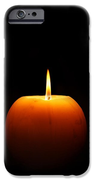 Candle Lit iPhone Cases - Burning candle iPhone Case by Johan Swanepoel