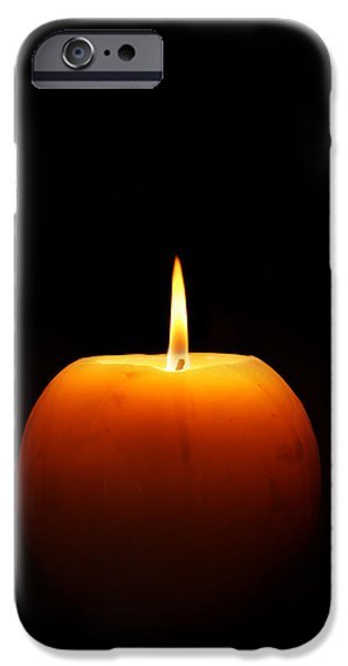 Flaming iPhone Cases - Burning candle iPhone Case by Johan Swanepoel