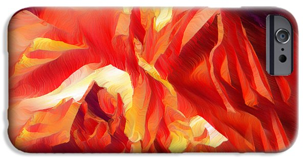 Abstract Digital Mixed Media iPhone Cases - Burning Desires iPhone Case by Georgiana Romanovna