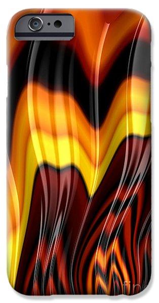 Fractal iPhone Cases - Burning iPhone Case by John Edwards