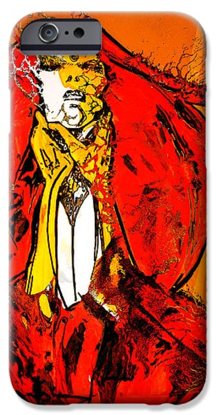 H.r. Giger iPhone Cases - Burning Lady Rose iPhone Case by Jakub DK