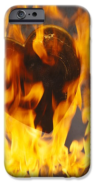 Engulfing iPhone Cases - Burning Love c1978 iPhone Case by Paul Ashby