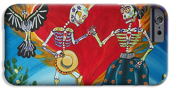 Diego Rivera iPhone Cases - Burning Love Frida and Diego iPhone Case by Julie Ellison
