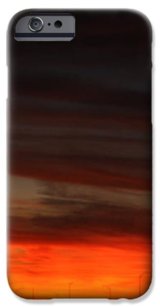 Burning Night Time Sky iPhone Case by JOHN TELFER