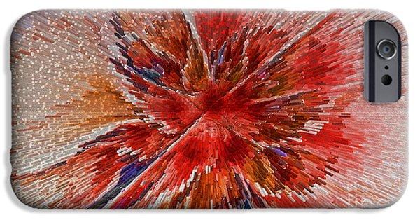 Surrealism Digital iPhone Cases - Burning Passion of Love iPhone Case by Deborah Benoit