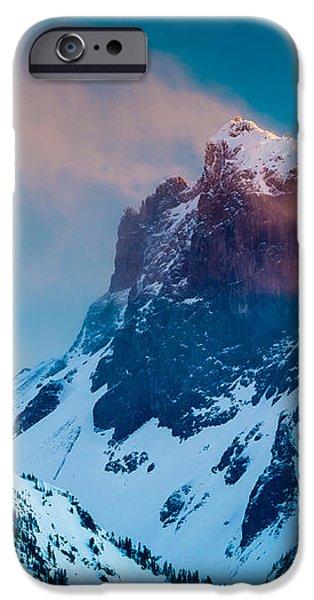 Burning Peak iPhone Case by Inge Johnsson