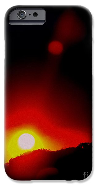 Sun Flare iPhone Cases - Burning Red iPhone Case by Colleen Kammerer