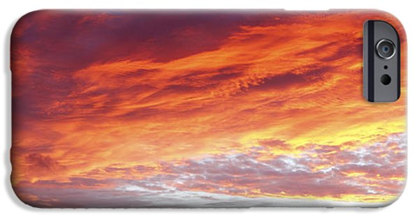 Nature Abstracts iPhone Cases - Burning sky  iPhone Case by Les Cunliffe
