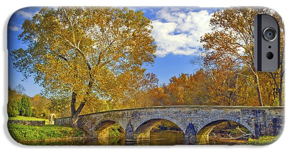 Impressions Of Light iPhone Cases - Burnside Bridge at Antietam iPhone Case by Paul W Faust -  Impressions of Light