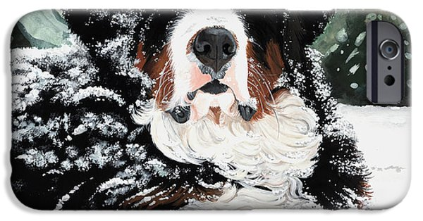 Mounds Paintings iPhone Cases - Burrr iPhone Case by Liane Weyers