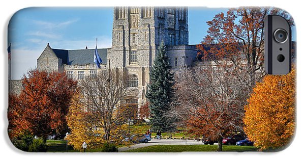 Virginia Photographs iPhone Cases - Burruss Hall iPhone Case by Mitch Cat