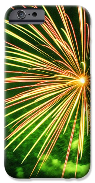 4th of July Fireworks 6 iPhone Case by Howard Tenke