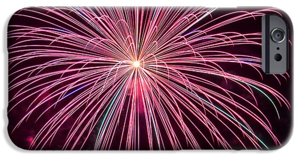 4th July Photographs iPhone Cases - 4th of July Fireworks 24 iPhone Case by Howard Tenke