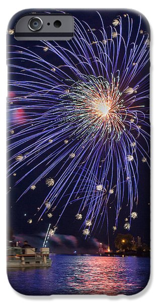 Best Sellers -  - 4th July Photographs iPhone Cases - Burst of Blue iPhone Case by Bill Pevlor