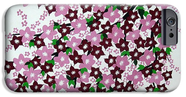 Catherine White Paintings iPhone Cases - Bursting into Bloom iPhone Case by Cathy Jacobs