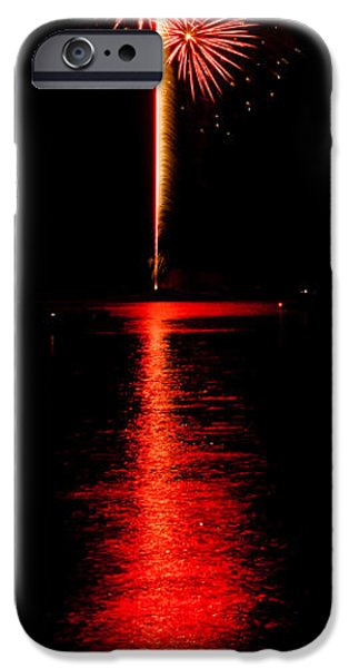 Fourth Of July iPhone Cases - Bursting of Red iPhone Case by Chad Cooper