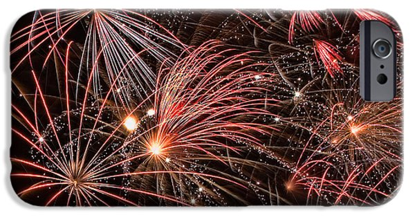 4th Of July iPhone Cases - Bursting iPhone Case by Peter Tellone