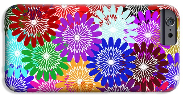 Multimedia iPhone Cases - Bursts Of Happiness iPhone Case by Tina M Wenger