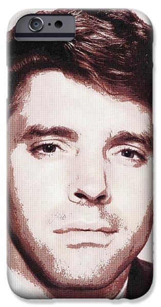 Crime Drama Movie iPhone Cases - Burt Lancaster in I Walk Alone iPhone Case by Art Cinema Gallery