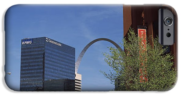Baseball Parks iPhone Cases - Busch Stadium And Gateway Arch In St iPhone Case by Panoramic Images