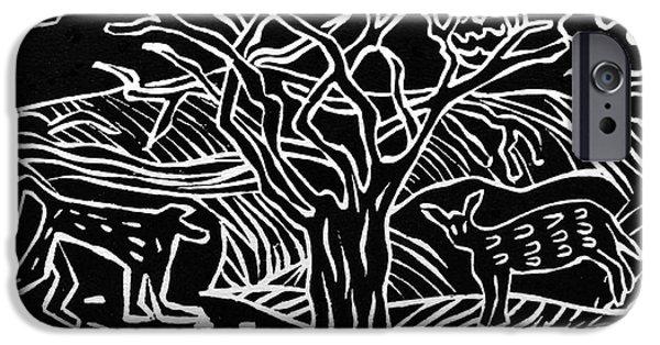 Animal Reliefs iPhone Cases - Bushveld Indaba iPhone Case by Caroline Street