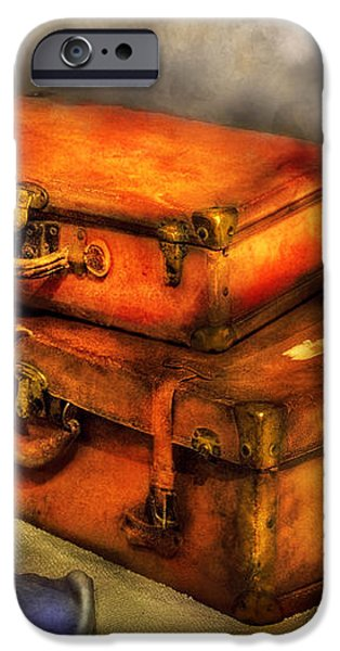 Business Man - Packed Suitcases iPhone Case by Mike Savad