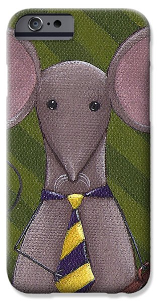 Business Mouse iPhone Case by Christy Beckwith