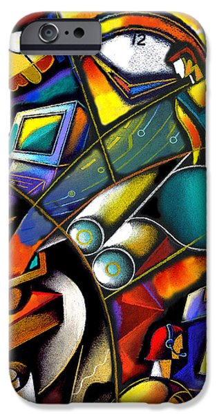 Technological iPhone Cases - Business world iPhone Case by Leon Zernitsky