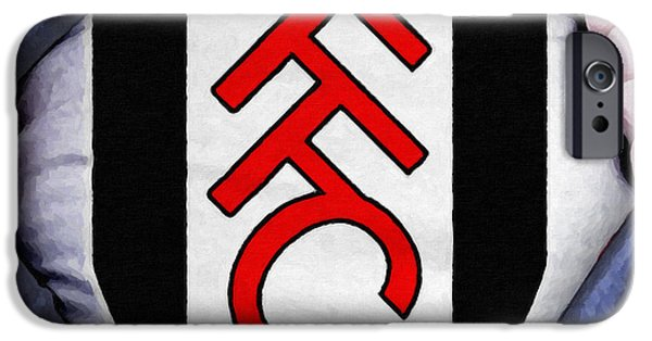 Shirt Digital iPhone Cases - Businessman Fulham Fan iPhone Case by Antony McAulay