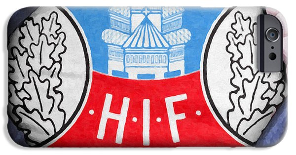 Shirt Digital iPhone Cases - Businessman Helsingborg Fan iPhone Case by Antony McAulay