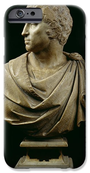 Politician iPhone Cases - Bust Of Brutus 85-42 Bc C.1540 Marble See Also 244606 iPhone Case by Michelangelo Buonarroti