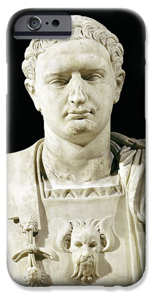 Bust of Emperor Domitian iPhone Case by Anonymous