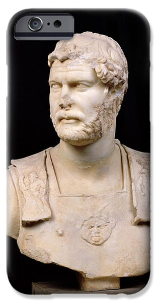Statue Portrait Sculptures iPhone Cases - Bust of Emperor Hadrian iPhone Case by Anonymous