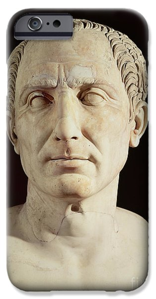 Statue Portrait Sculptures iPhone Cases - Bust of Julius Caesar iPhone Case by Anonymous