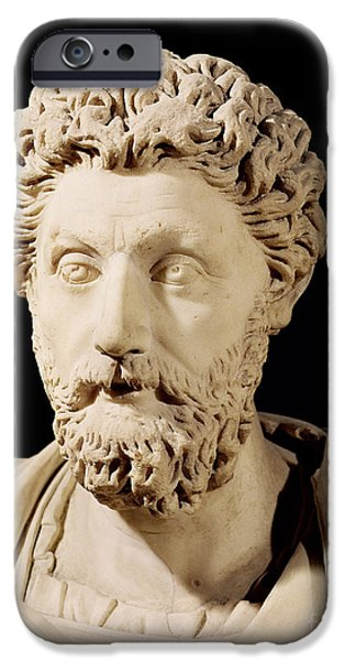 Statue Portrait Sculptures iPhone Cases - Bust of Marcus Aurelius iPhone Case by Anonymous
