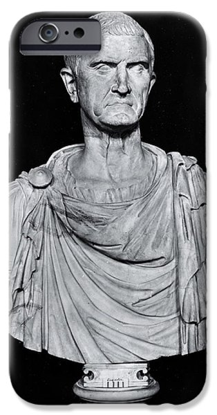 Politician Photographs iPhone Cases - Bust Of Marcus Licinius Crassus C.115-53 Bc Stone Bw Photo iPhone Case by Roman