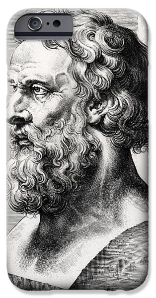 Philosophy iPhone Cases - Bust of Plato  iPhone Case by Lucas Emil Vorsterman