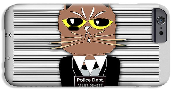 Cat iPhone Cases - Busted iPhone Case by Marvin Blaine