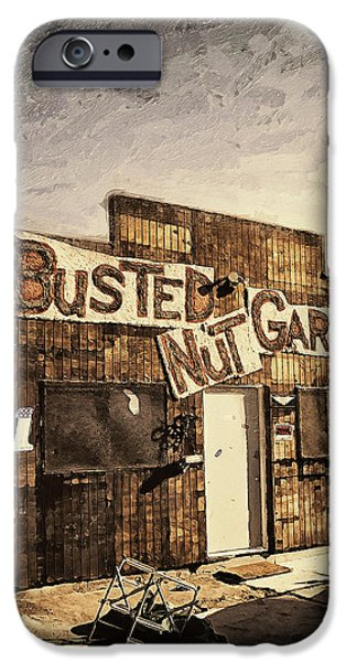 Temecula iPhone Cases - Busted Nut Garage iPhone Case by Ron Regalado