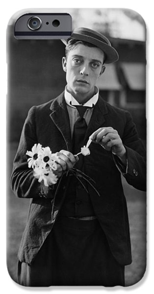 Recently Sold -  - Drama iPhone Cases - Buster Keaton Portrait iPhone Case by Nomad Art And  Design