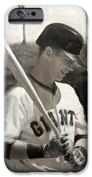 San Francisco iPhone Cases - Buster Posey - Quiet Leader iPhone Case by Darren Kerr