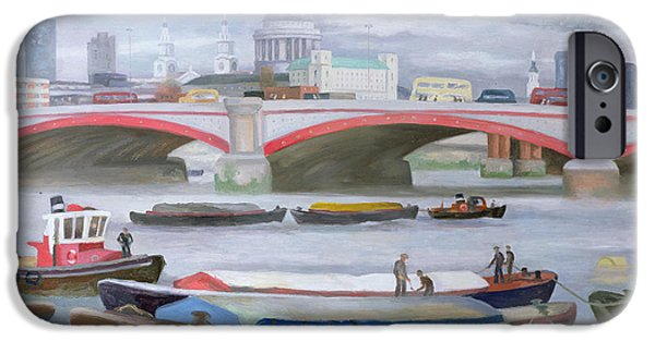 River View iPhone Cases - Busy Scene at Blackfriars iPhone Case by Terry Scales