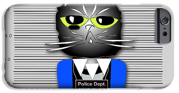 Cat iPhone Cases - But Im Innocent iPhone Case by Marvin Blaine