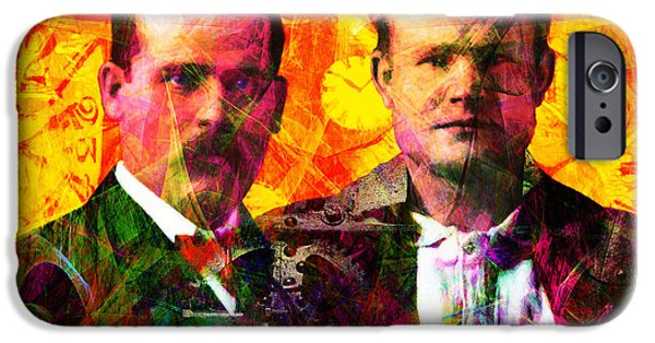 Butch Cassidy iPhone Cases - Butch and Sundance Incorporated Steampunk Machines Patent Pending 20140512 iPhone Case by Wingsdomain Art and Photography