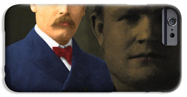 Butch Cassidy iPhone Cases - Butch Cassidy and The Sundance Kid 20130512 v5 square iPhone Case by Wingsdomain Art and Photography