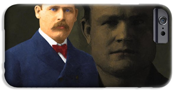 Butch Cassidy iPhone Cases - Butch Cassidy and The Sundance Kid 20130512 v5 iPhone Case by Wingsdomain Art and Photography