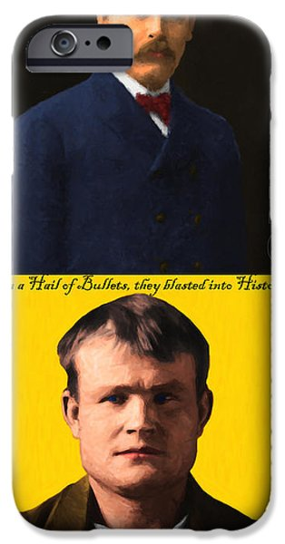 Butch Cassidy iPhone Cases - Butch Cassidy and The Sundance Kid 20131012 iPhone Case by Wingsdomain Art and Photography