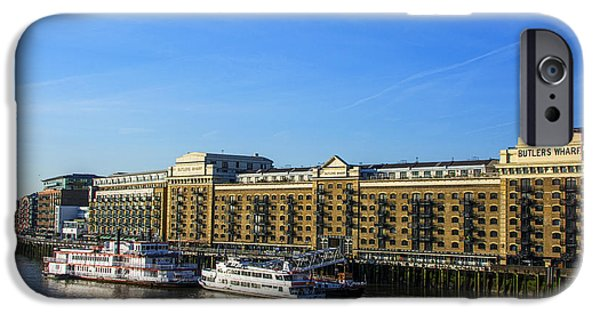 City Scape iPhone Cases - Butlers Wharf iPhone Case by Chris Thaxter
